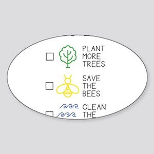 Plant More Trees - Save The Bees - Clean T Sticker