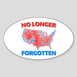 No Longer Forgotten Sticker (Oval)
