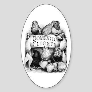 Big Apple Flight Pigeons Oval Sticker