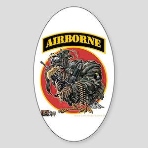 101 Airborne Eagle Oval Sticker