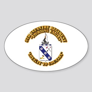 COA - 8th Infantry Regiment Sticker (Oval)
