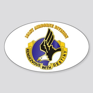 DUI - 101st Airborne Division with Text Sticker (O