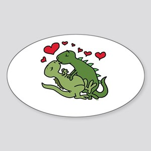 Kissing Dinosaurs Sticker