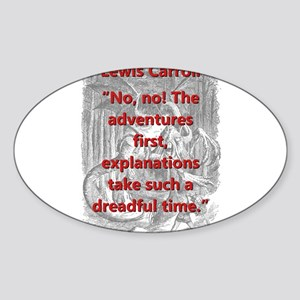 No No The Adventures First - L Carroll Sticker