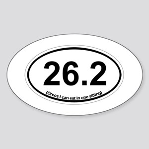 26.2 - Oreos I can eat in one sitting Sticker