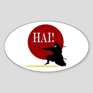 9 To 5 Ninja Oval Sticker