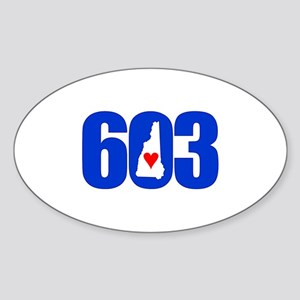 603 New Hampshire Love Sticker