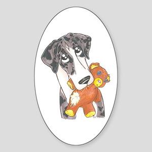 N MtlMrl Love My Teddy Oval Sticker
