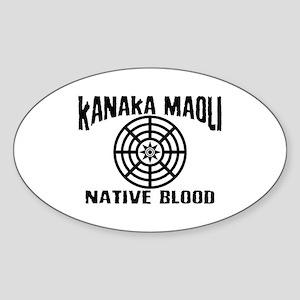 Kanaka Maoli Native Blood Oval Sticker