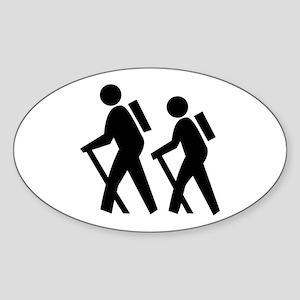 Hiking Oval Sticker