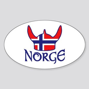 Norge Sticker (Oval)