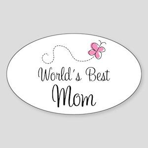 World's Best Mom Oval Sticker