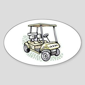 Golf34 Oval Sticker