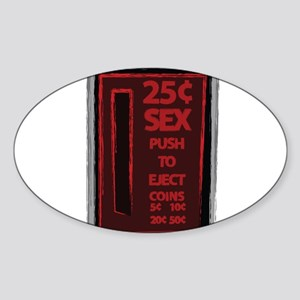25 Cent Sex Oval Sticker