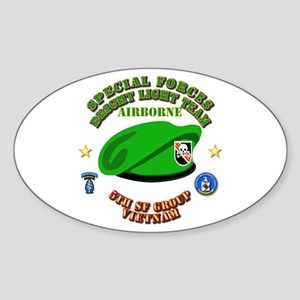 SOF - Bright Light Team Beret Sticker (Oval)
