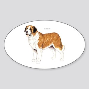 St. Bernard Dog Sticker (Oval)