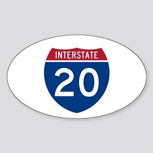 I-20 Highway Oval Sticker