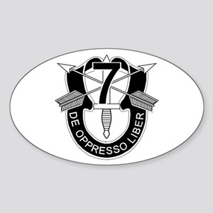 7th Special Forces - DUI - No Txt Sticker (Oval)