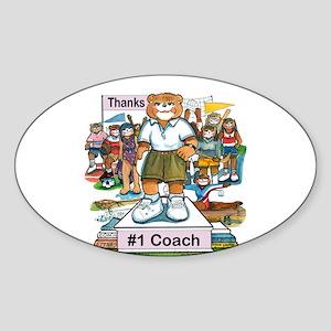 Female Coach - High School Oval Sticker