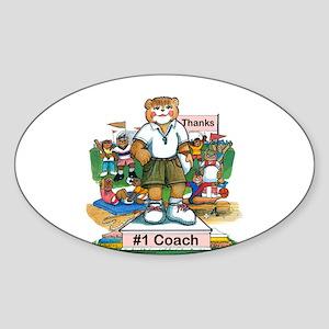Female Coach - Elementary Oval Sticker