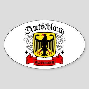 Deutschland Coat of Arms Oval Sticker