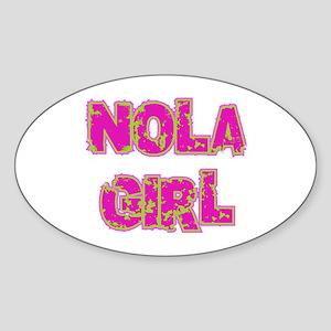 NOLA Girl Oval Sticker