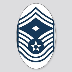 USAF-First-SMSgt-Blue Sticker (Oval)