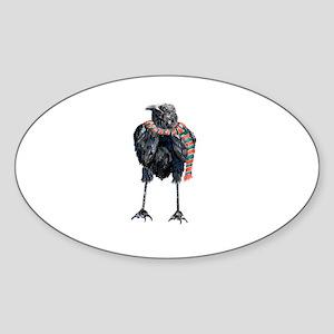 Black Winter Crow Sticker