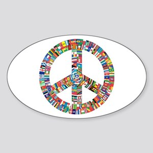 Peace to All Nations Sticker
