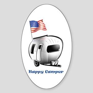 Happer Camper Oval Sticker