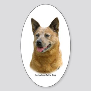 Aust Cattle Dog 9K009D-19 Sticker (Oval)