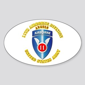 Army - 11th Airborne Division Sticker (Oval)