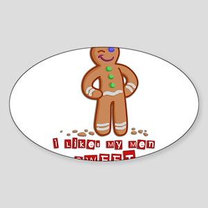 GingerBread Sticker (Oval)