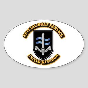 Special Boat Service - UK Sticker (Oval)