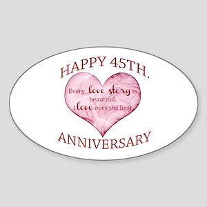 45th. Anniversary Sticker