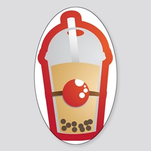 Bubble Tea Sticker (Oval)
