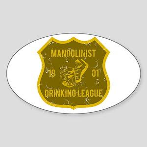 Mandolinist Drinking League Oval Sticker