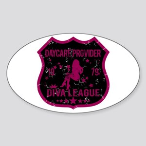 Daycare Provider Diva League Oval Sticker