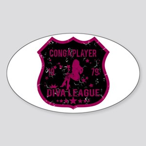 Conga Player Diva League Oval Sticker
