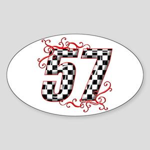 RaceFashion.com 57 Oval Sticker