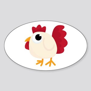 Funny White Chicken Sticker