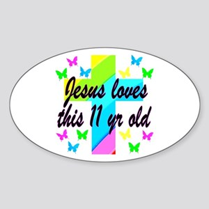 CHRISTIAN 11TH Sticker (Oval)
