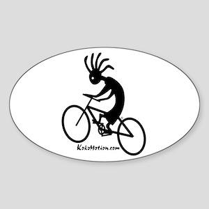 Kokopelli Mountain Biker Oval Sticker