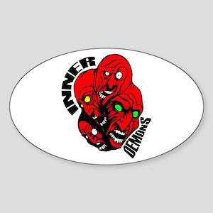 Inner Demons Oval Sticker