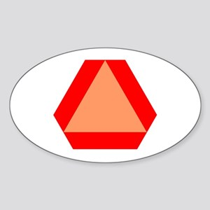Slow Moving Oval Sticker