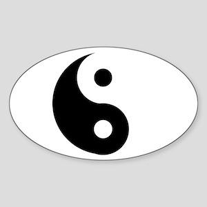 Yin & Yang (Traditional) Sticker (Oval)