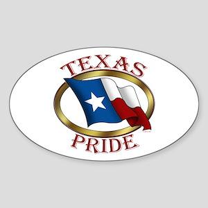 TX Flag: Texas Pride Oval Sticker