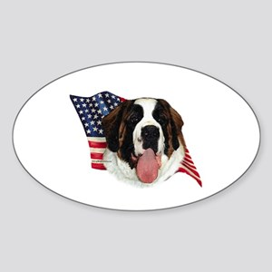 Saint Bernard Flag Oval Sticker