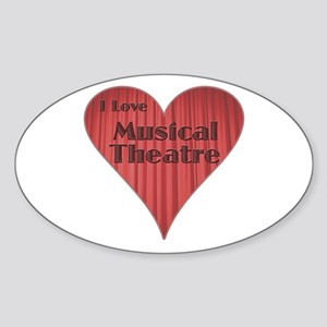 I Love Musical Theatre Oval Sticker