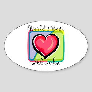 WB Grandma [Spanish] Oval Sticker